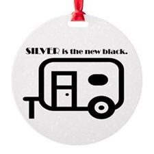 Silver Is The New Black Ornament