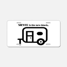 Silver is the new Black Aluminum License Plate