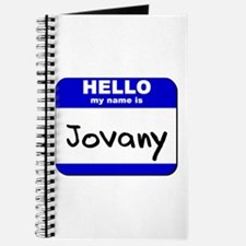 hello my name is jovany Journal