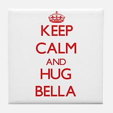 Keep Calm and Hug Bella Tile Coaster