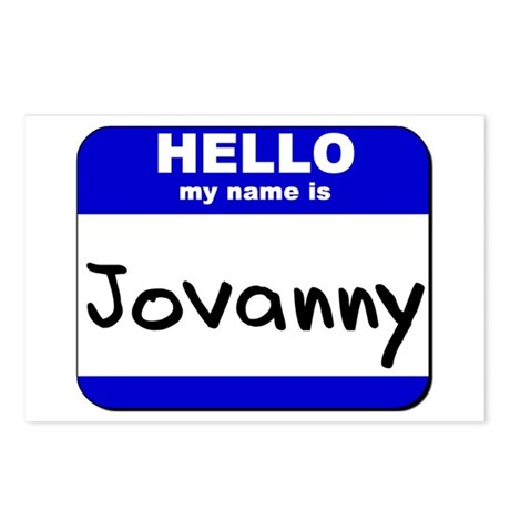 hello my name is jovanny Postcards (Package of 8)