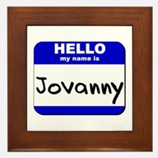 hello my name is jovanny  Framed Tile