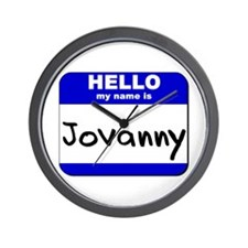 hello my name is jovanny  Wall Clock