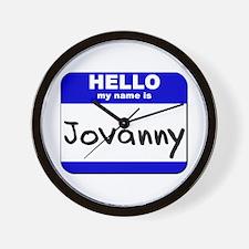 hello my name is jovanny  Wall Clock
