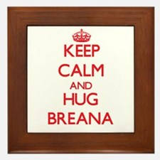 Keep Calm and Hug Breana Framed Tile