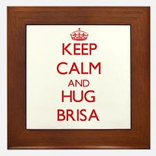Keep Calm and Hug Brisa Framed Tile