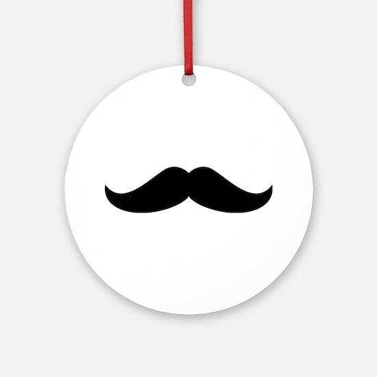 Cool Mustache Beard Ornament (Round)