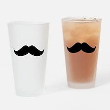 Cool Mustache Beard Drinking Glass
