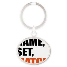 game,set,match Oval Keychain