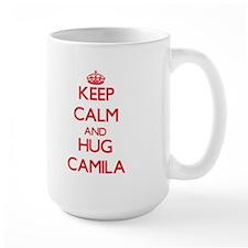 Keep Calm and Hug Camila Mugs