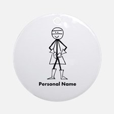Personalized Super Stickman Ornament (Round)