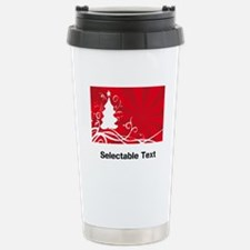 red chritmas selectable text Travel Mug