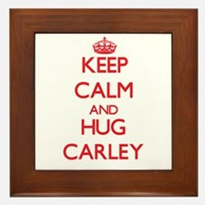 Keep Calm and Hug Carley Framed Tile