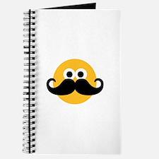 Yellow smiley mustache Journal