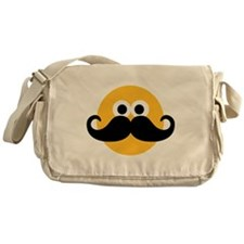 Yellow smiley mustache Messenger Bag