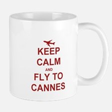 Fly to Cannes Mugs
