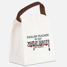 Zombie Hunter - English Teacher Canvas Lunch Bag