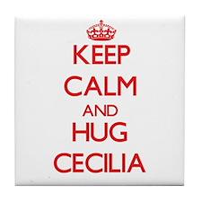 Keep Calm and Hug Cecilia Tile Coaster