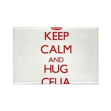 Keep Calm and Hug Celia Magnets