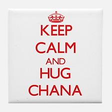 Keep Calm and Hug Chana Tile Coaster