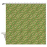 Candy Cane Green Shower Curtain