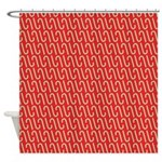 Candy Cane Red Shower Curtain