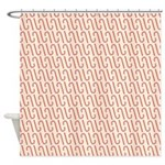 Candy Cane White Shower Curtain