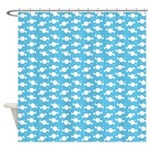 Candy Wrap Blue Shower Curtain