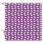 Candy Wrap Purple Shower Curtain