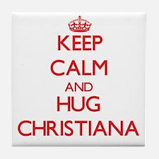 Keep Calm and Hug Christiana Tile Coaster