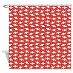 Candy Wrap Red Shower Curtain