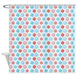 Peppermint Blue Shower Curtain
