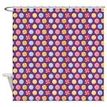 Peppermint Purple Shower Curtain