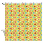 Peppermint Yellow Shower Curtain