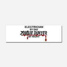 Zombie Hunter - Electrician Car Magnet 10 x 3