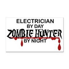 Zombie Hunter - Electrician Rectangle Car Magnet