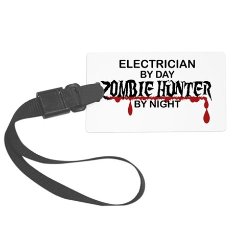 Zombie Hunter - Electrician Large Luggage Tag