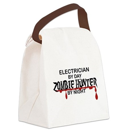 Zombie Hunter - Electrician Canvas Lunch Bag