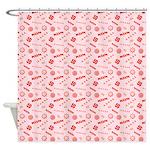 Seasonal Sweets Pink Shower Curtain