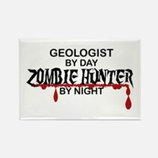 Zombie Hunter - Geologist Rectangle Magnet