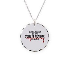 Zombie Hunter - Geologist Necklace Circle Charm