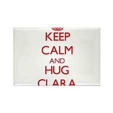 Keep Calm and Hug Clara Magnets