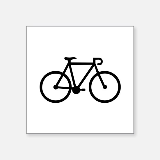 "Bicycle bike Square Sticker 3"" x 3"""