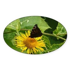 Flower with Butterfly Decal