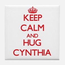 Keep Calm and Hug Cynthia Tile Coaster