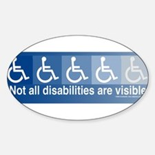 Not All Disabilities Bumper Decal.jpg Decal