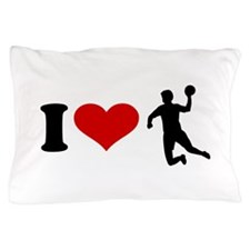 I love Handball player Pillow Case