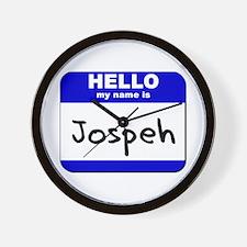 hello my name is jospeh  Wall Clock