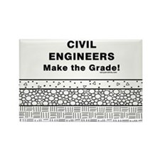 Civil Engineers Graded Rectangle Magnet