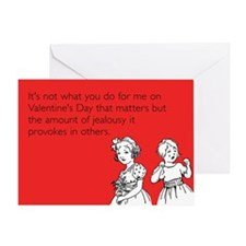 Amount Of Jealousy Greeting Card